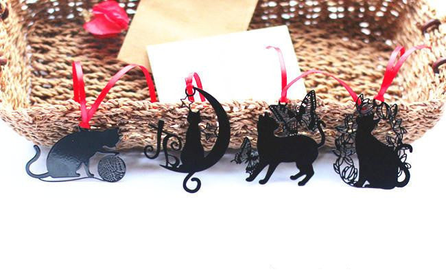 Metal Cutout Black Cat Vintage Style Bookmark - Set of 9 Bookmarks - FOR MY LITTLE ANGELS