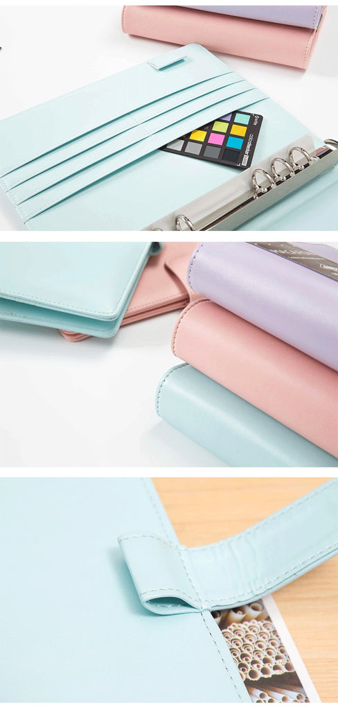 Pastel Color Leather Spiral Notebook for Diary/Planner/Agenda - More Colors Available - FOR MY LITTLE ANGELS
