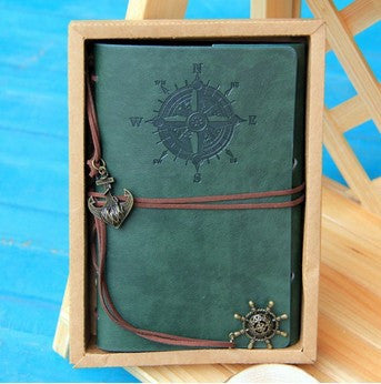 Vintage Leather Journal Notebook in Classic Retro Style with Binder - More Colors Available - FOR MY LITTLE ANGELS