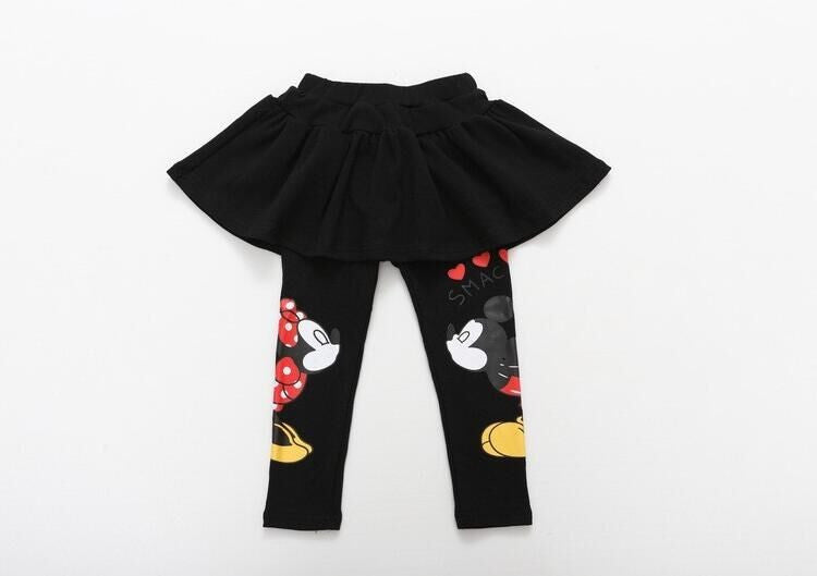 Girls Leggings Skirt with Mickey and Minne Mouse Print for 2-7T - FOR MY LITTLE ANGELS