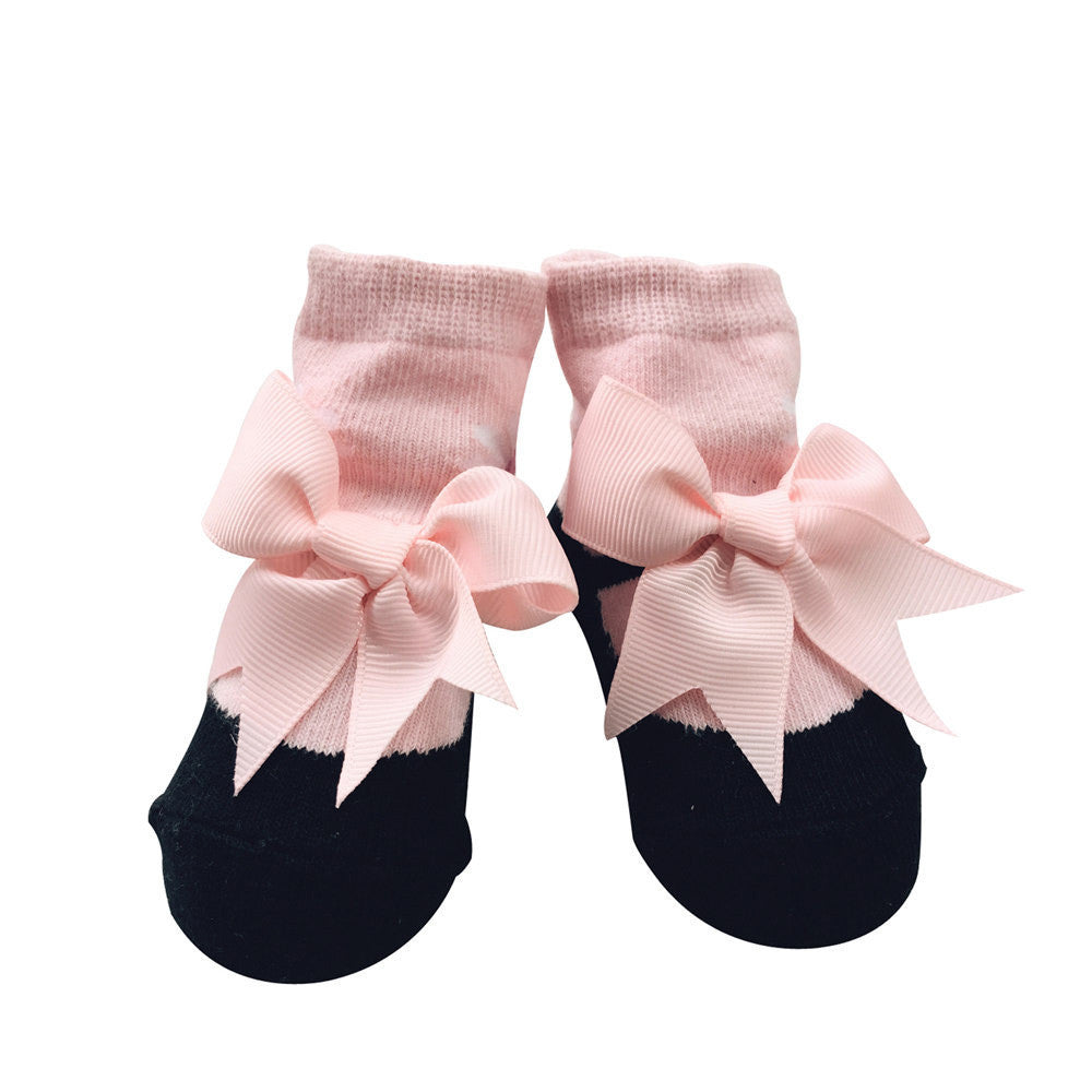 Socks for Girls Newborns with Flowers and Bows 0-12M - More Colors Available - FOR MY LITTLE ANGELS