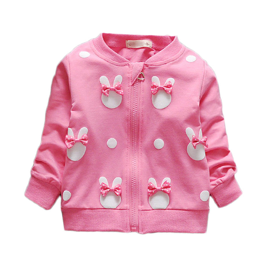 Baby Girls Coat with Long Sleeve and Rabbit Print 1-4T - More Colors Available - FOR MY LITTLE ANGELS