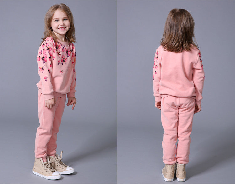 Casual Floral Sleepwear Clothing Set for Girls (2pcs) for 2-8T - More Colors Available - FOR MY LITTLE ANGELS