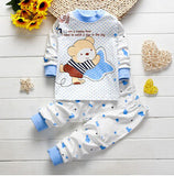 Autumn/Winter Unisex Baby Clothing Set with Bear Printed Longsleeve T Shirt and Long Pants (2pcs) 1-4T - FOR MY LITTLE ANGELS
