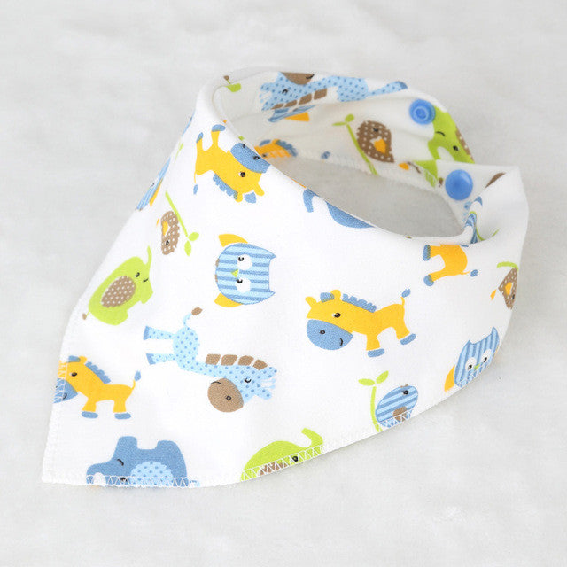 Newborn Baby Soft Cotton Bib with Double Layers - FOR MY LITTLE ANGELS
