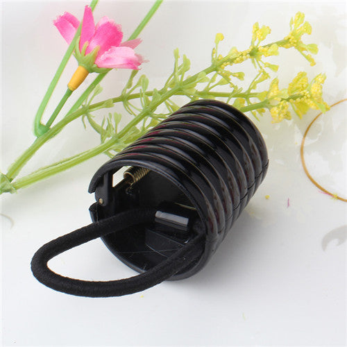 Punky Elastic Hair Tie with Edgy Round Ring for Women (1pc) - FOR MY LITTLE ANGELS