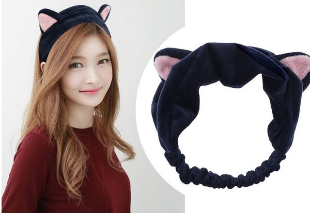 Cute Velvet Cat Ear Shape Headband for Women Accessory with Elastic Band (1pc) - FOR MY LITTLE ANGELS