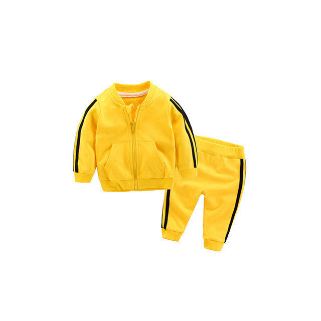 Autumn/Winter Unisex Baby Tracksuit with Zipped Jacket and Sweatpants (2pcs) 4-24M - FOR MY LITTLE ANGELS