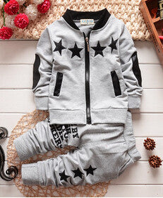 Autumn/Winter Unisex Clothing Set for Kids with Zipped Sweatshirt and Sweatpants (2pcs) 2-5T - FOR MY LITTLE ANGELS