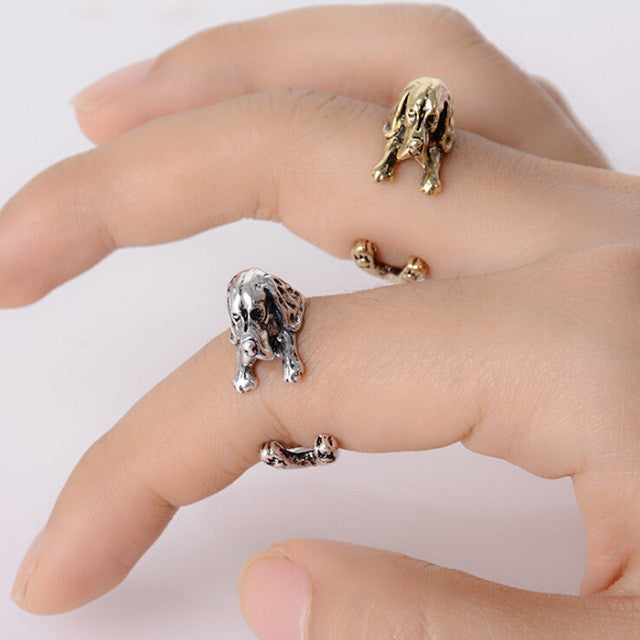 Vintage Silver/Black/Bronze Animal Resizable Knuckle Ring - FOR MY LITTLE ANGELS
