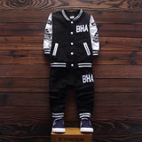 Autumn Baby Boys Sporty Clothing Set with Baseball Jacket and Pants (2pcs) 9M-3T - FOR MY LITTLE ANGELS