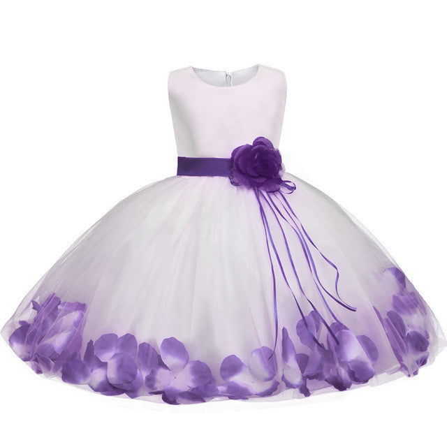Baby Girl Dress in Princess Style with Big Flower and Petals 6-24M - FOR MY LITTLE ANGELS
