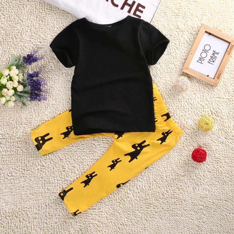 Spring/Summer Casual Baby Boys Clothing Set with Shortsleeve T Shirt and Printed Shorts (2pcs) 9M-4T - FOR MY LITTLE ANGELS