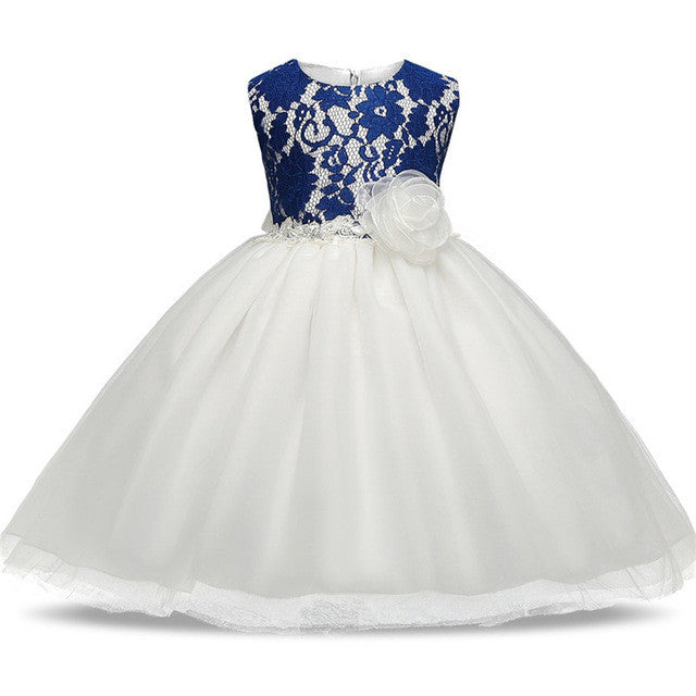 Spring/Autumn Baby Girls Princess Style Sleeveless Dress with Lace Detail and Tulle Ball Gown 3-8T - FOR MY LITTLE ANGELS