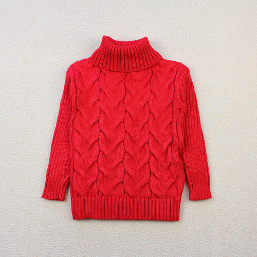 Autumn/Winter Long Sleeve Pullover Knitted Sweater with Turtle Neck for Baby 2-10T - FOR MY LITTLE ANGELS
