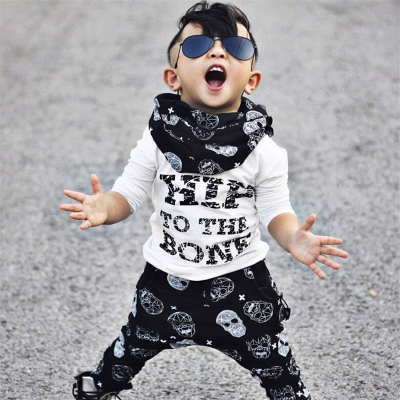 Autumn/Winter Casual Unisex Baby Clothing Set with Longsleeve T Shirt and Printed Cotton Pants (2pcs) 9M-4T - FOR MY LITTLE ANGELS