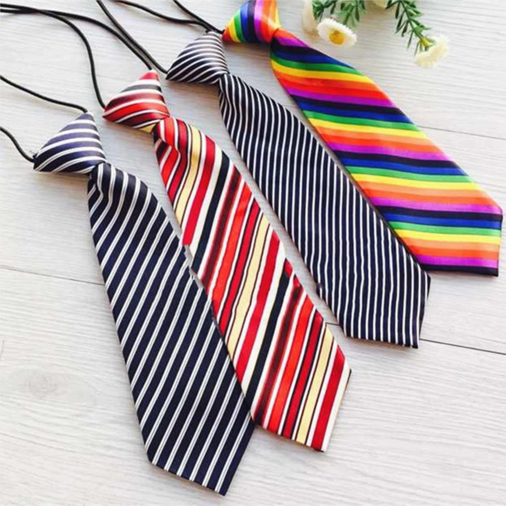 Baby Boys Colorful Stripe Necktie with Elastic Band - FOR MY LITTLE ANGELS