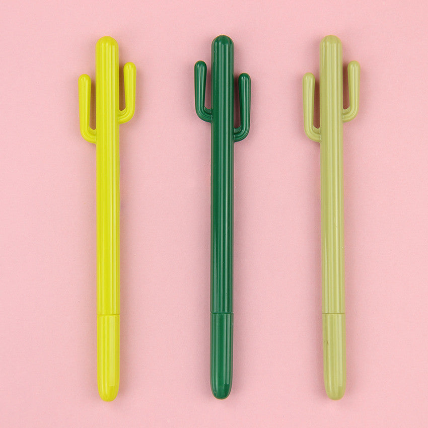 Cute Cactus Cartoon Gel Pen for Stationery (3pcs) - FOR MY LITTLE ANGELS