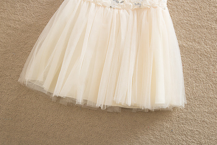 Spring/Summer Baby Girls Sleeveless Dress in Mini Ball Gown with Lace and Sequin Detail 2-6T - FOR MY LITTLE ANGELS