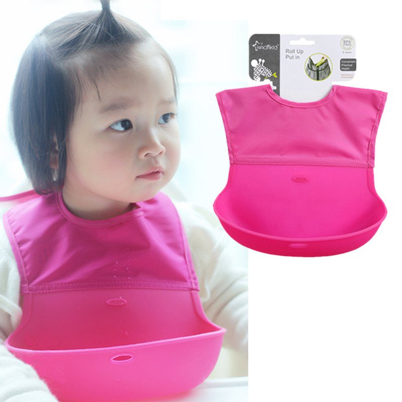 Waterproof Silicone Bib for Feeding Baby (1pc) - FOR MY LITTLE ANGELS