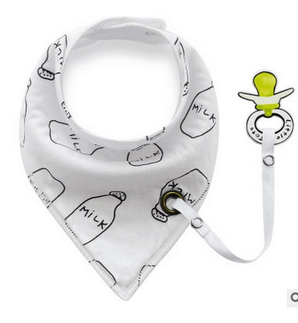 Baby Triangle Bib with Cartoon Print (1pc) - FOR MY LITTLE ANGELS