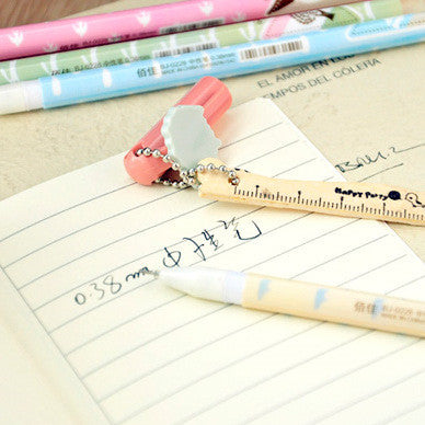 Japanese Gel Ink Pen with Mini Ruler - FOR MY LITTLE ANGELS