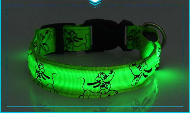 Nylon Pets Harness Collar with LED Light Glow and Printing Details - FOR MY LITTLE ANGELS