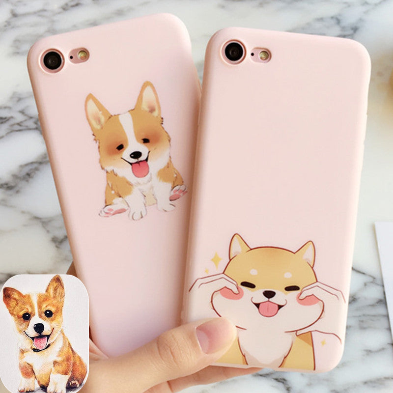 Cute Pink Corgi Dog Iphone Case for Ip6/6plus/6splus/7/7plus - FOR MY LITTLE ANGELS