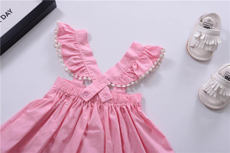 Spring/Summer Baby Girls Dress with Butterfly Sleeve 1-4T - FOR MY LITTLE ANGELS