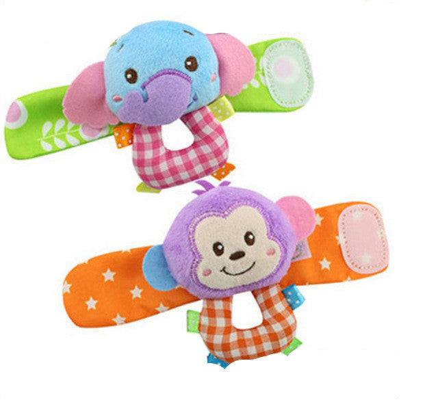 Wrist Strap and Foot Socks with Cartoon Animal Toys for Baby (2pcs/set) - FOR MY LITTLE ANGELS