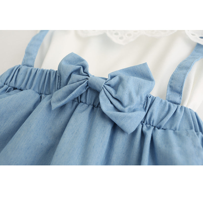 Spring/Summer Baby Girls Shortsleeve Dress with Kitten Printed Top and Soft Tulle Bottom (1pc) 2-7T - FOR MY LITTLE ANGELS