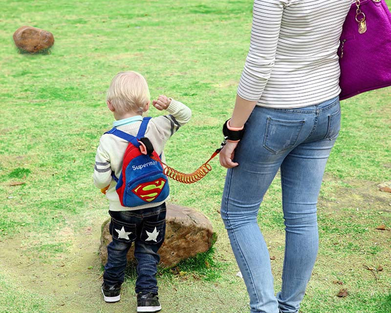 No-Lost Wrist Harness Safety Leash for Walking with Baby Toddler Kids Length 5 feet (1.5 m) or 8.2 feet (2.5 m) - FOR MY LITTLE ANGELS