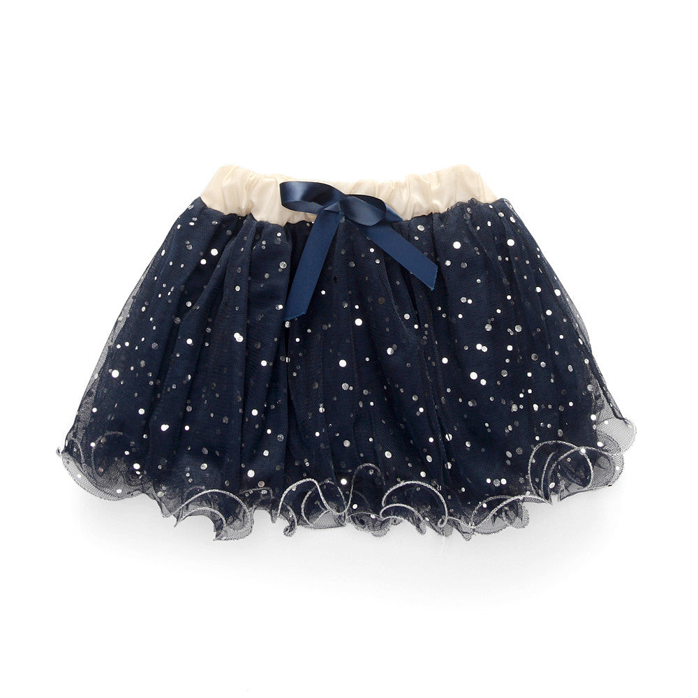 Autumn/Winter Baby Girl Fashion Clothing Set with Knit Flower Coat + Blue T Shirt + Tutu Style Skirt (3pcs) 2-6T - FOR MY LITTLE ANGELS