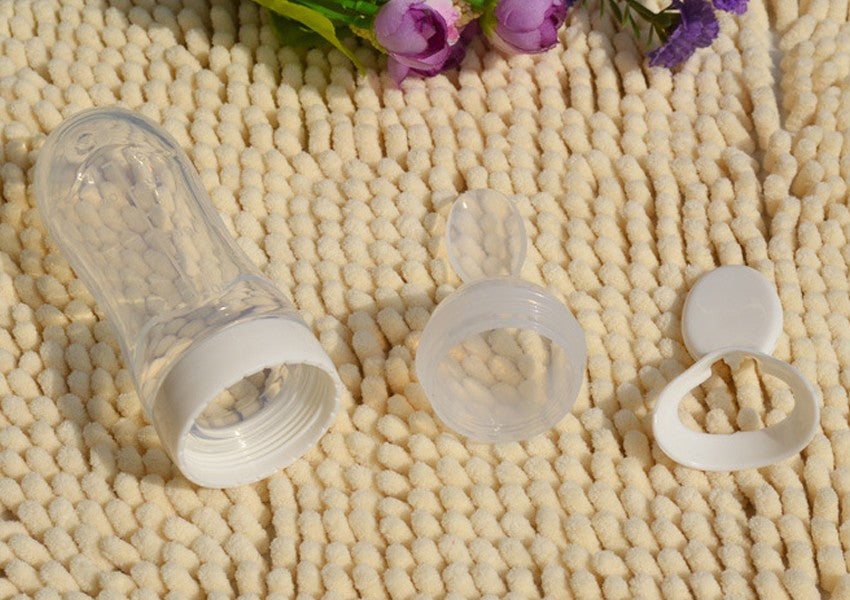 Baby Training Feeding Bottle with Silicone Spoon - FOR MY LITTLE ANGELS