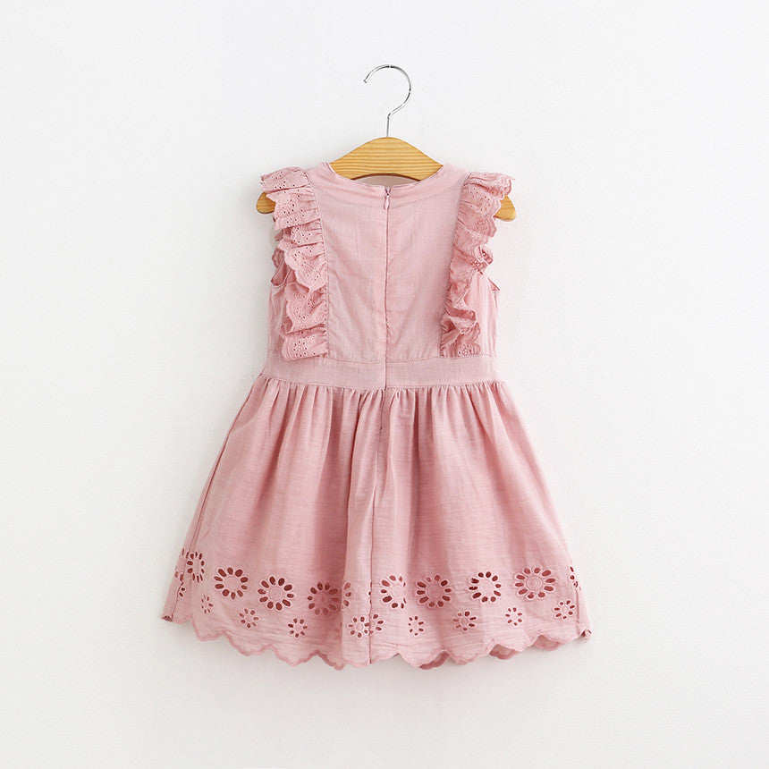 Spring/Summer Baby Girls Sleeveless Dress with Lace Details 2-5T - FOR MY LITTLE ANGELS