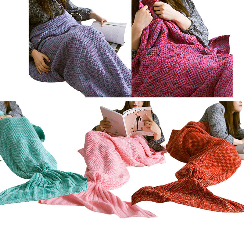 Handmade Crochet Mermaid Tail Blanket for Adult - FOR MY LITTLE ANGELS