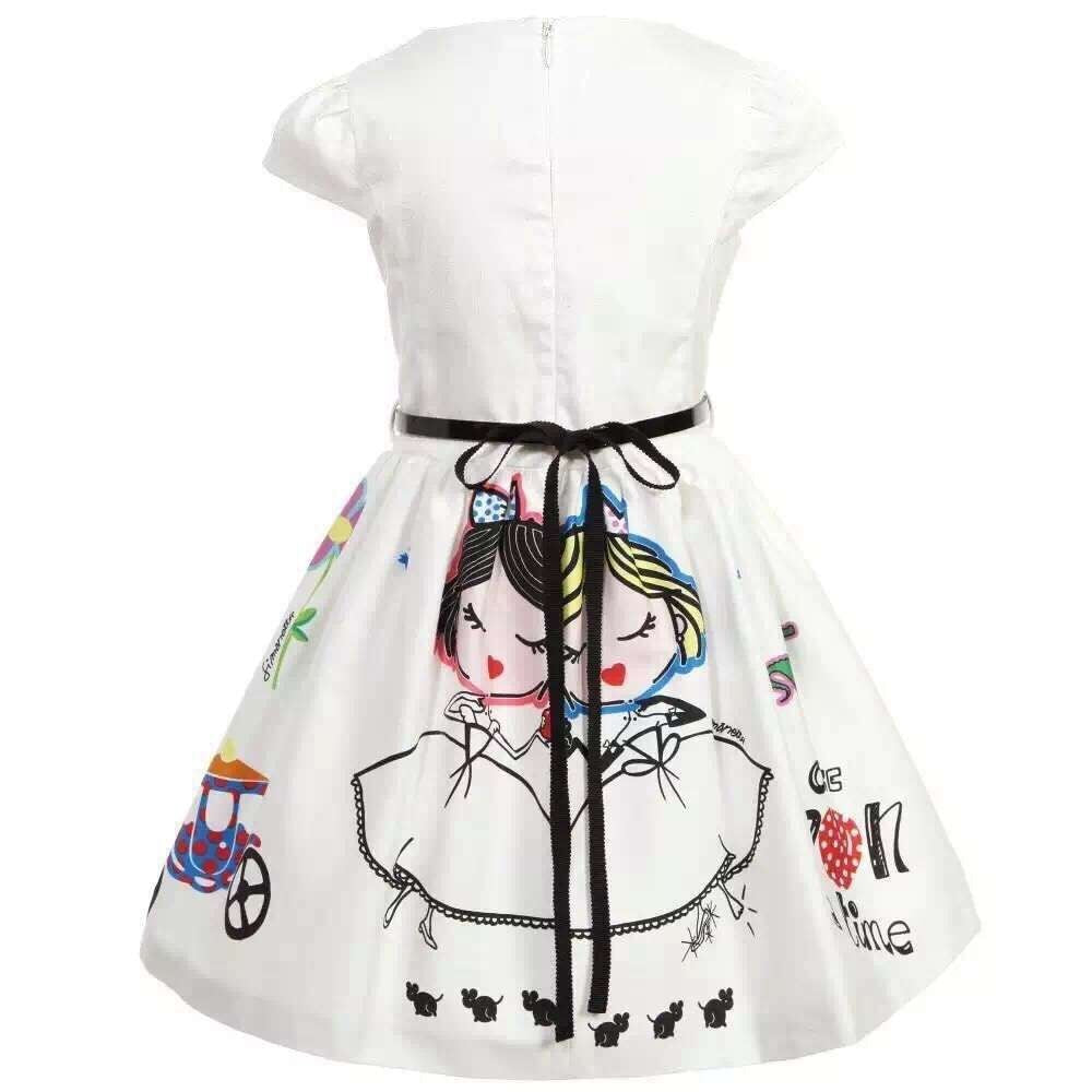 Cartoon Princesses Drawing Character Summer Dress  3T-7 - FOR MY LITTLE ANGELS