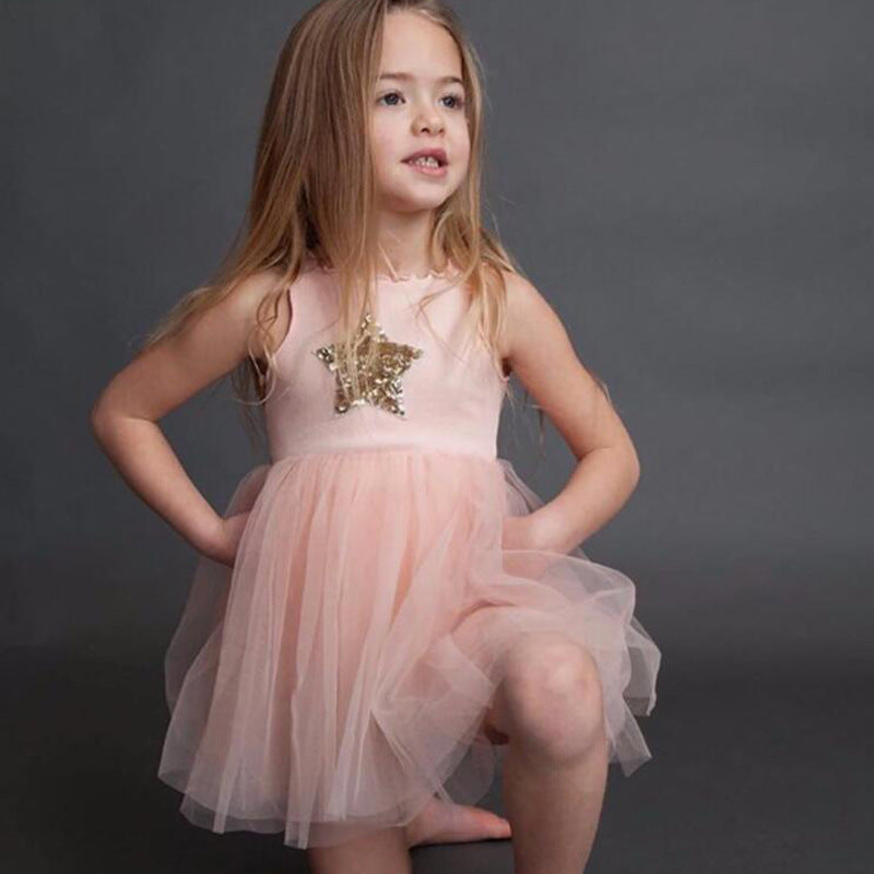 2019 Summer See Through Mesh Floral Flower Dress - FOR MY LITTLE ANGELS