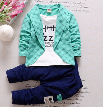 3 Pieces Suit Set Button Up Shirt + Bow + Vest and Sweatpants for Baby Boys  12M - 4T - FOR MY LITTLE ANGELS