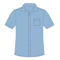 St Francis of Assisi | Short Sleeve Shirt - Blue