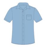 St Francis of Assisi | Short Sleeve Shirt - (blue)