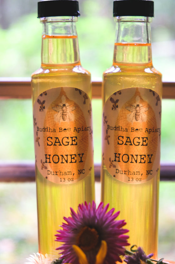 8 oz RAW Sage Honey