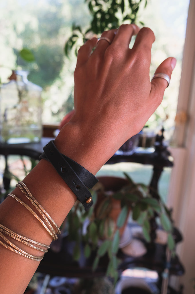 Leather Wrap Bracelet/Choker
