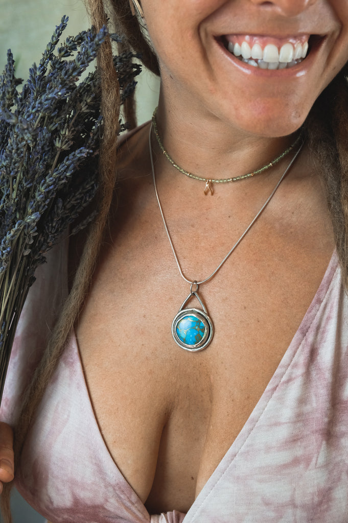 Copper Turquoise Necklace