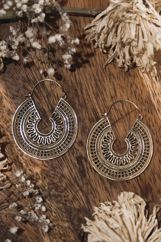 Bohemian Spiral Earrings