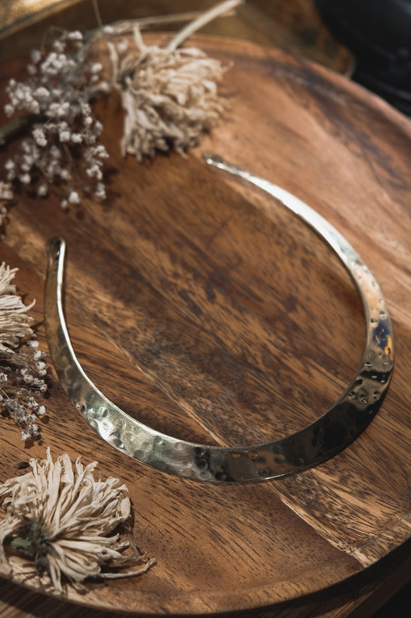 Hammered Brass Choker