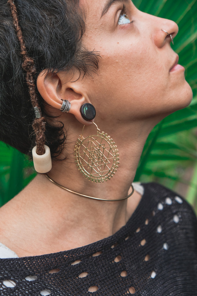 XL Sacred Geometry Earrings