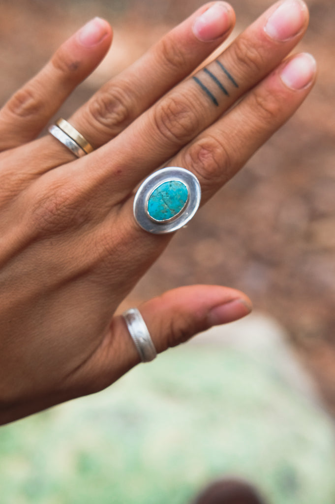 Solar Return Turquoise Ring (7.25)