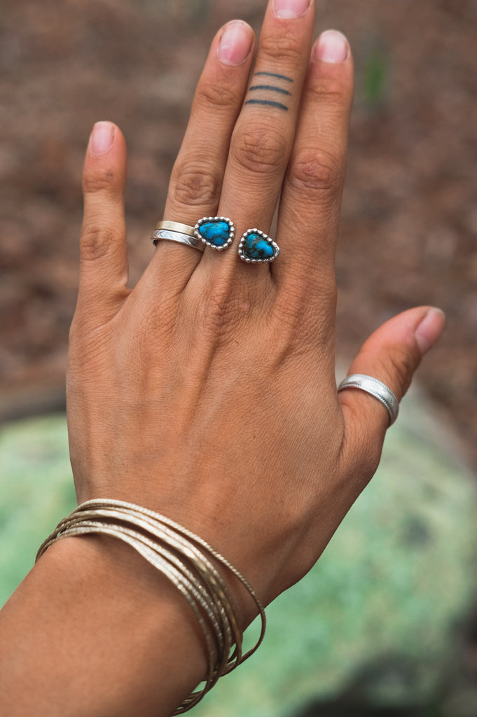Egyptian Turquoise Ring (7.5-9.5)