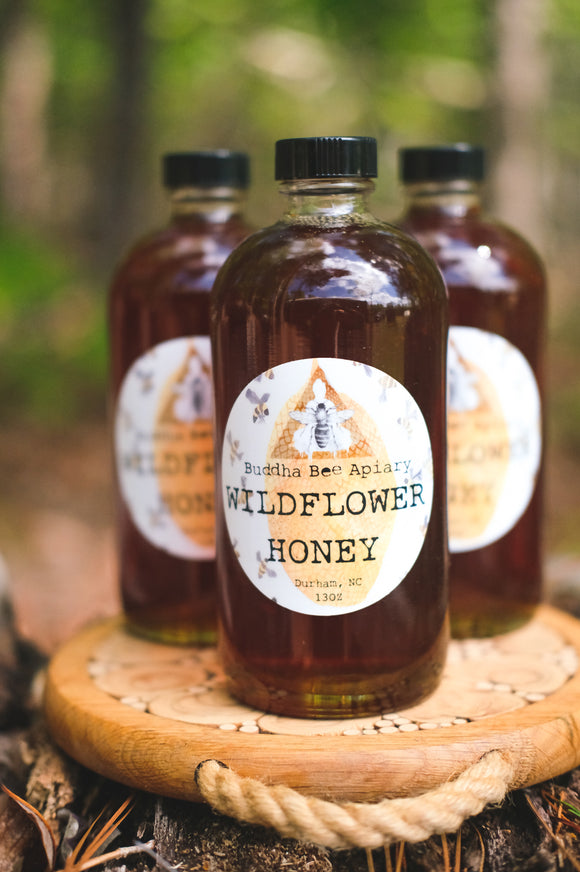 13 oz RAW Wildflower Honey